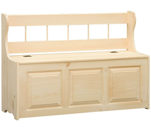 Great storage bench to go near the front door. It is made of solid wood and can be stained to match your furniture. The storage compartment is great for items like shoes, mittens, hats, etc.