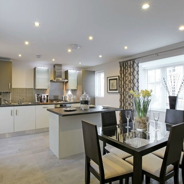 White Kitchen Designs On Open Plan: An Open-plan Kitchen/dining Room Is Great For Entertaining