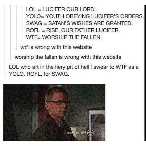 There is something seriously wrong with our fandom. Supernatural<<<< no no there is nothing wrong here i swear we are (not) normal and we are not (lie) falling in love with satan