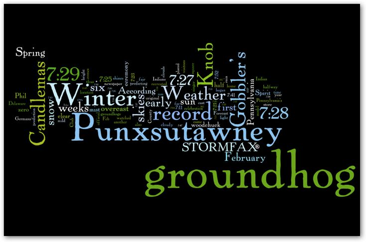 Groundhog Day History from Stormfax® 2016