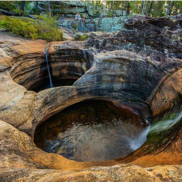 Natural jacuzzi - Blackdown Tableland National Park Queensland
