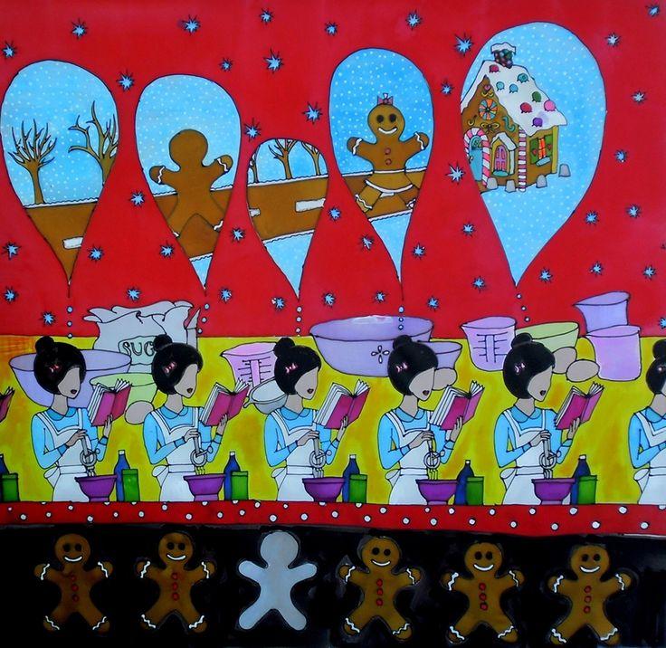 Decemberi szerelem 85*85cm www.somogyireka.hu
