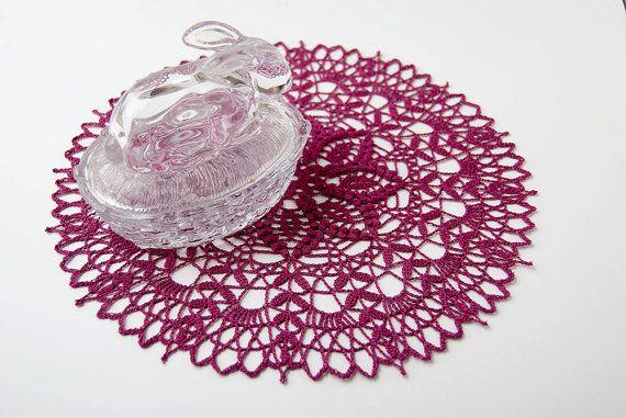 Crochet Doily tabletop decor lace centerpiece by TableTopJewels, $35.00