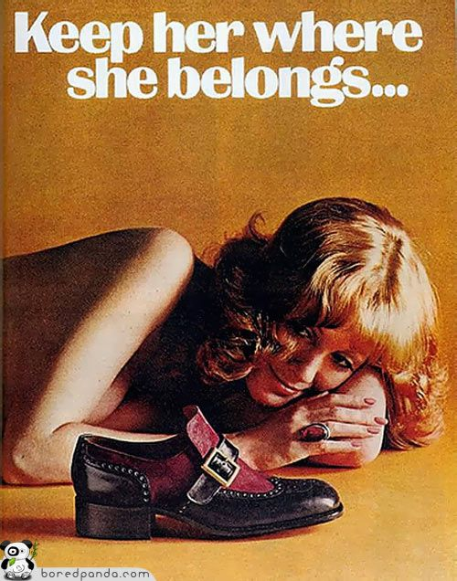A look into adds widely used in the 1940s-1960s clearly demonstrating the acceptance of misogyny and sexism within  advertising and media. Women used as sexual objects and lifeless beings in order to increase sales demonstrates the deep roots of this occurrence in social and public spheres.