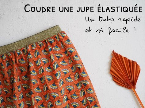 Coudre une jupe avec élastique – La méthode la plus facile et la plus rapide -…