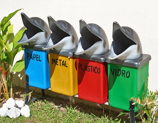 1000 images about recycling bins signs on pinterest for Interesting recycling ideas