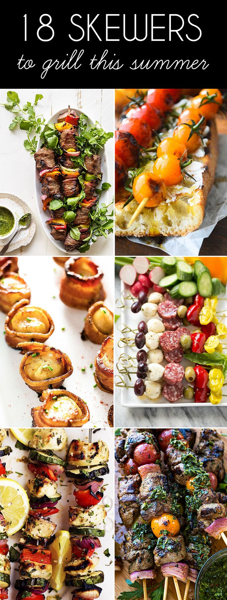 Warmer weather has arrived, which means summer grilling season is here! There's nothing more fun than eating stuff off of a stick, so check out these tasty skewers and kebabs to inspire your summer BBQ cooking. - DivineCaroline.com