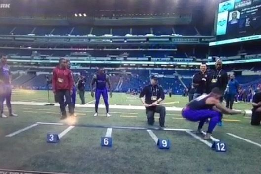 NFL combine leap tops world record