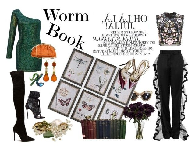 """""""Worm Book"""" by estebban-aguila on Polyvore featuring Dolce&Gabbana, Valentino, Ariella, Judith Leiber, Dsquared2, Needle & Thread, Betsey Johnson, women and FashionEnthusiast"""
