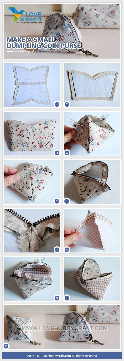 "Triangle, ""dumpling"" coin purse. SOMEONE MAKE ME ONE PLEASE!!!!!!"
