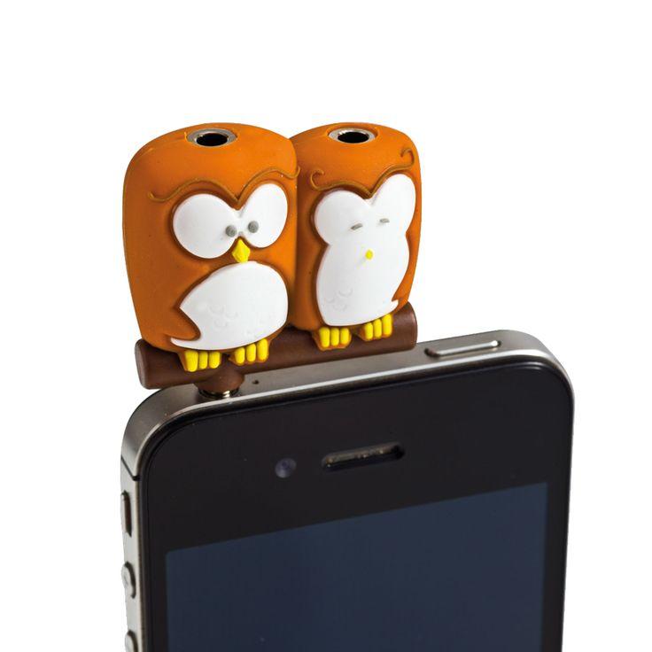 Spinning Hat | Headphone Splitters – Owls http://www.spinninghat.com/product/headphone-splitters-owls/