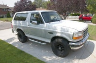 I have a very clean 1996 Bronco for sale. Clean title in hand. I am willing to negotiate on price within reason. I bought it last year for my son but he didnt end up driving it hardly at all. I am selling it because we are going to move. This Bronco has an extremely good body, no rust at all. Interior is in used but good shape. It has new black alloy wheels and Falken all-terrain tires. I had the plugs, wires, belts, hoses, fuel pump, fuel filter, rear window motor all replaced. I also had…