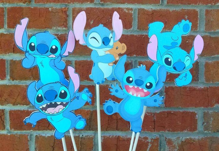 Set of 5 Disney Stitch Themed Centerpiece Picks or Cake ...