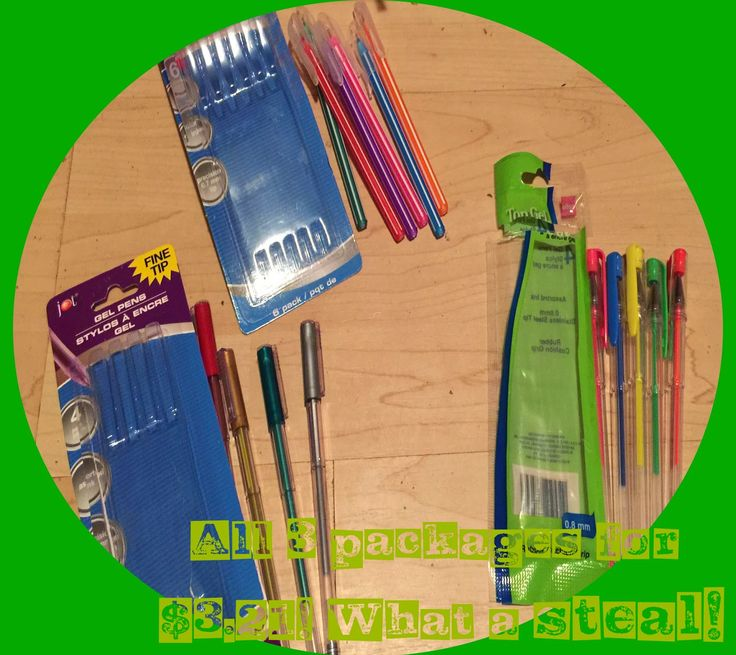 Dollar Tree Gel Pens that work in Cricut Explore! 15 pens for $3.00! FRUGAL DIE-Cutting #Cricut brought to you by Rock, Paper, Diecuts! @ Blogspot