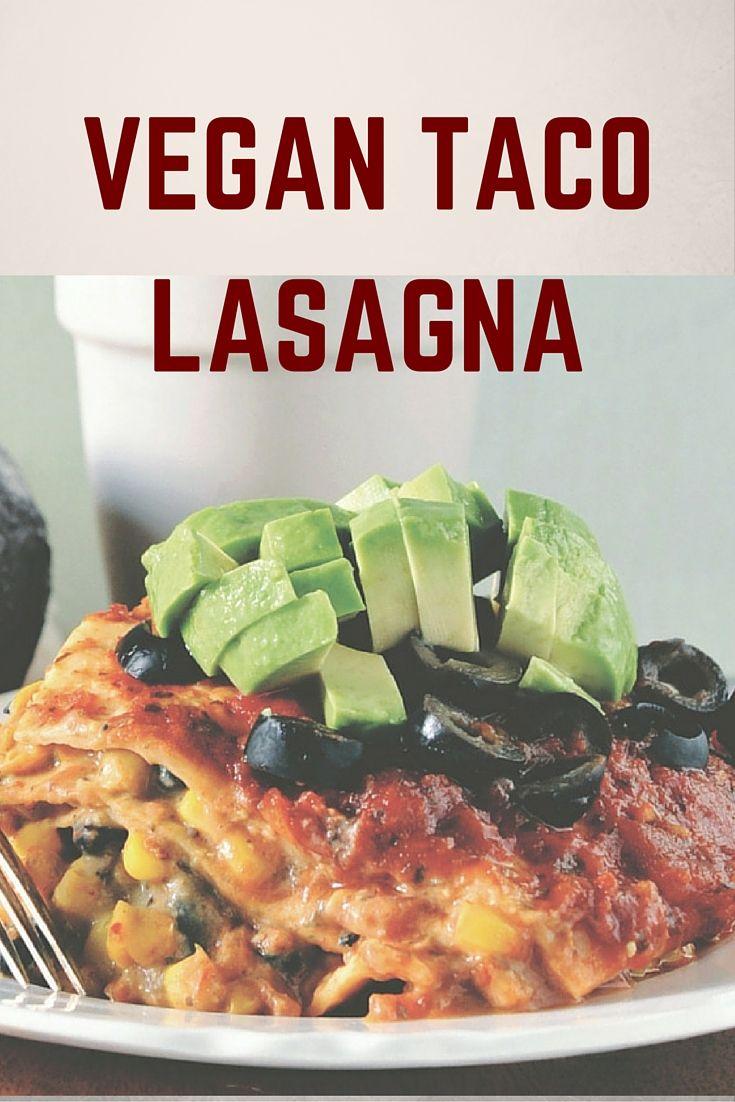 Vegan Taco Lasagna from Bake and Destroy Vegan Cookbook! http://eco18.com/taco-lasagna-from-bake-and-destroy/