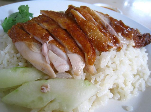 "How to make Singapore Hainanese ""Roasted"" Chicken Rice ~ Singapore Food 