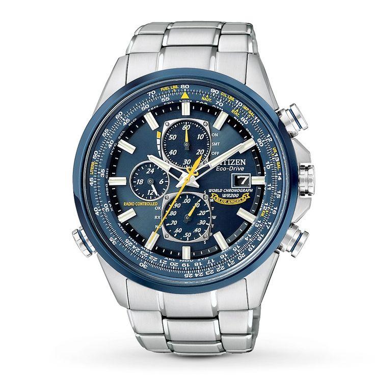 $650.00 Citizen Eco-Drive Men's Blue Angels World Chronograph