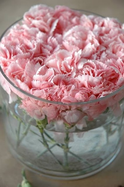 I'm infatuated with peonies currently... Should probably stop by the florist and price them, and that should put an end to it.: Baby Shower Ideas, Dinners Tables, Chocolates Desserts, Pink Carnations, Floral Arrangements, Desserts Parties, Centerpieces, Pink Peonies, Center Pieces