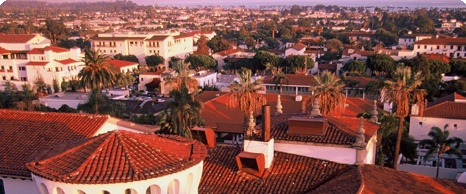 Santa Barbara Red Roofs are visible all throughout the area!