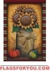 Sunflower Crock House Flag