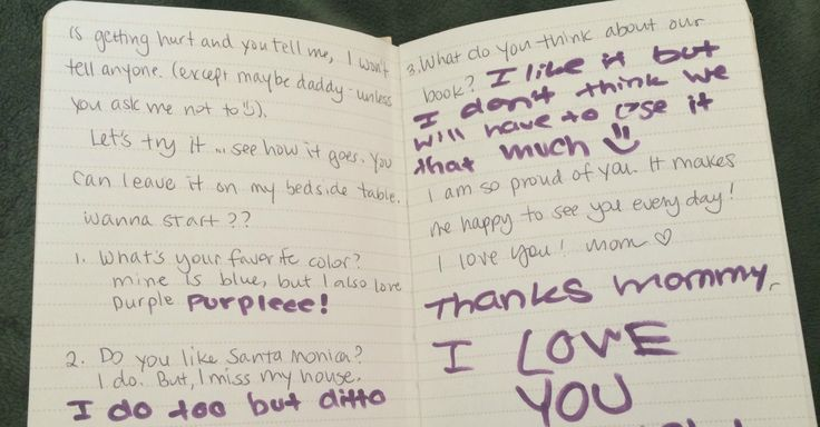 Such s good idea! A journal to write back and forth with your daughter. She might write you things or ask questions that may be too awkward to do face to face. Hafta remember this for when the girls get older!