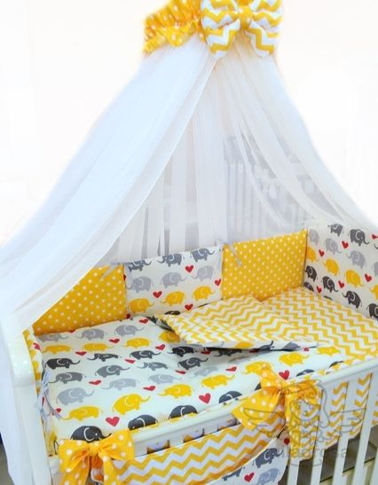 Комплект в кроватку Слоны Желтые