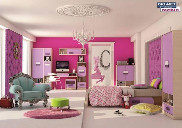 Študentská izba - Dig-net - Gusto 4 Originálna a štýlová izba pre romantické študentky.