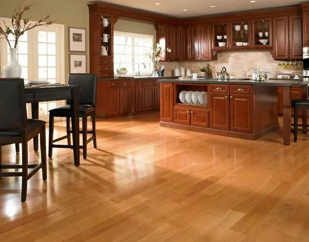 Bellawood American Cheery Hardwood Floor For Master Suite In Bell Residence