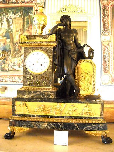 """""""Clock with the Genius of Arts"""" (about 1810) by Pierre Philippe Thomire (Paris 1751-1843) and Jean Simon Bourdier (Paris about 1785-1825) - Naples, Royal Palace  #TuscanyAgriturismoGiratola"""