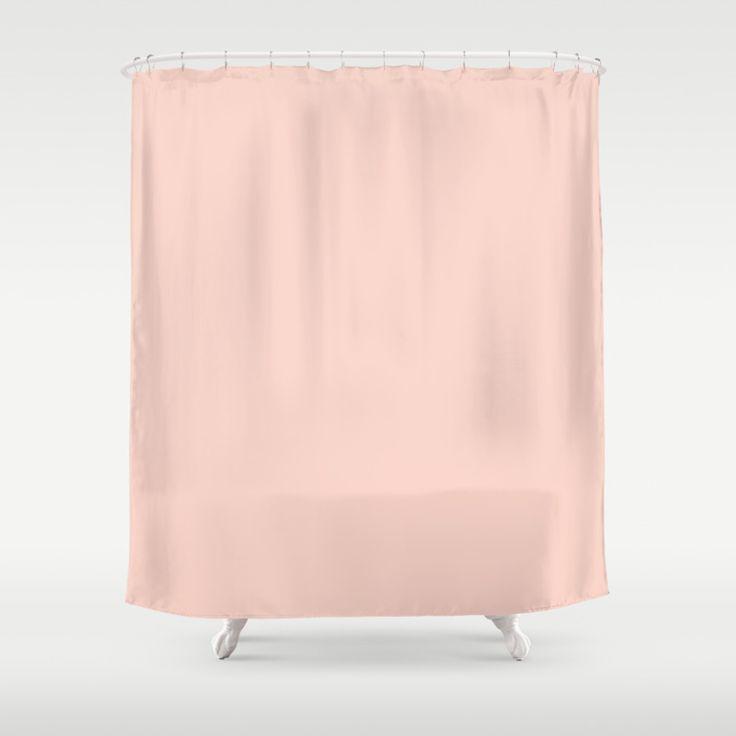 Peach colored shower curtain di 2020