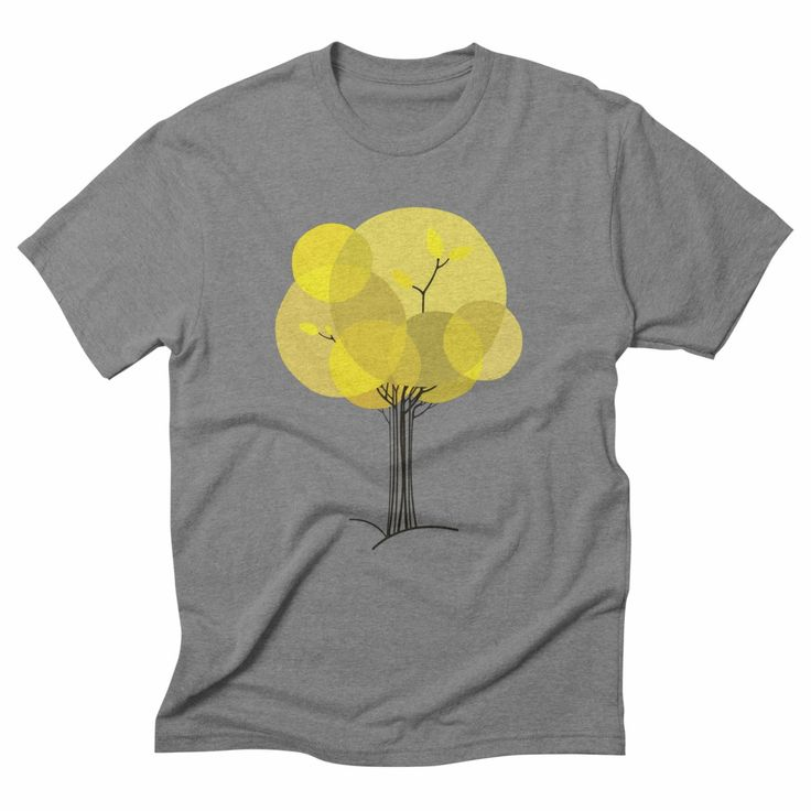 Autumn tree, triblend grey t-shirt. #autumn #fall #seasons #nature #minimal #tree #yellow #tshirt #apparel #design #threadless #menswear #womensfashion