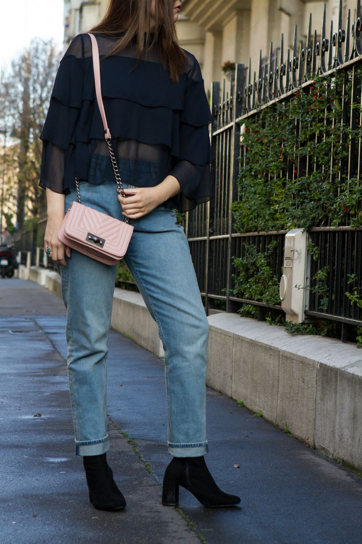 Ruffles in Paris   Click to see this outfit! #fashion #women #style #paris #travel #ruffles