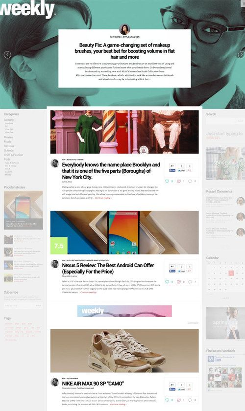 http://sundaestudio.com Weekly WordPress Theme for Magazines and Blogs #news -  #newspaper,  #photography