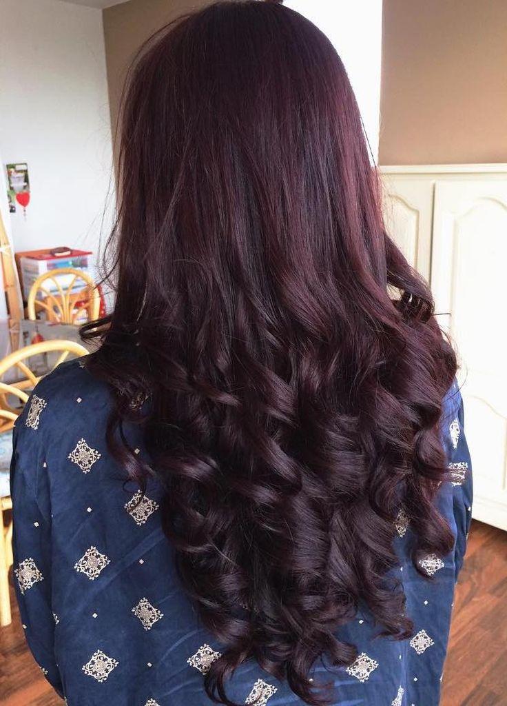 45 Shades of Burgundy Hair: Dark Burgundy, Maroon