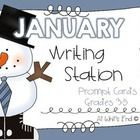 Need a fun way to get some quality writing out of your kiddos in January?  These FREE 20 writing station prompt cards will do the trick!