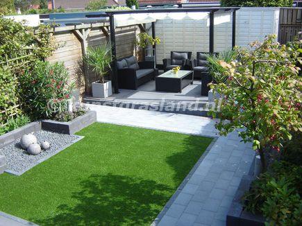 Tuinidee n voorbeelden google zoeken kunstgras pinterest tuin band and met - Kleine design lounge ...