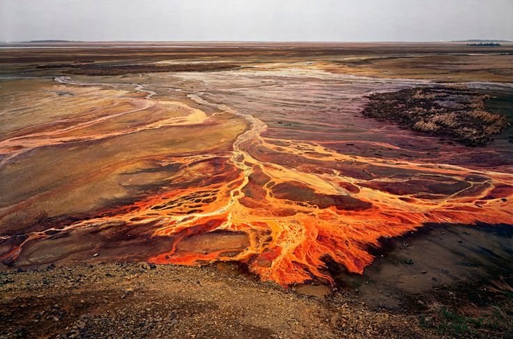 Nickel tailings...what are we doing to our planet? (photo from the fabulous work of Edward Burtynsky)