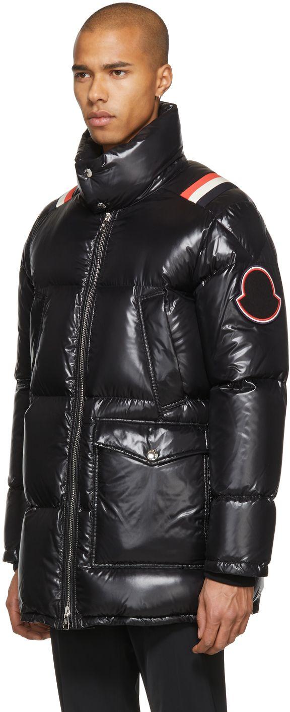 705743fd2 Moncler - Black Down Mancora Coat