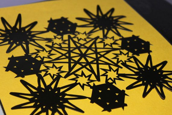 stars papercutting template downloadable pdf