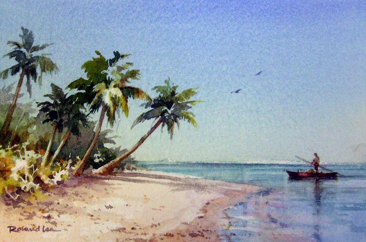 Roland Lee WATERCOLOR Cook Islands