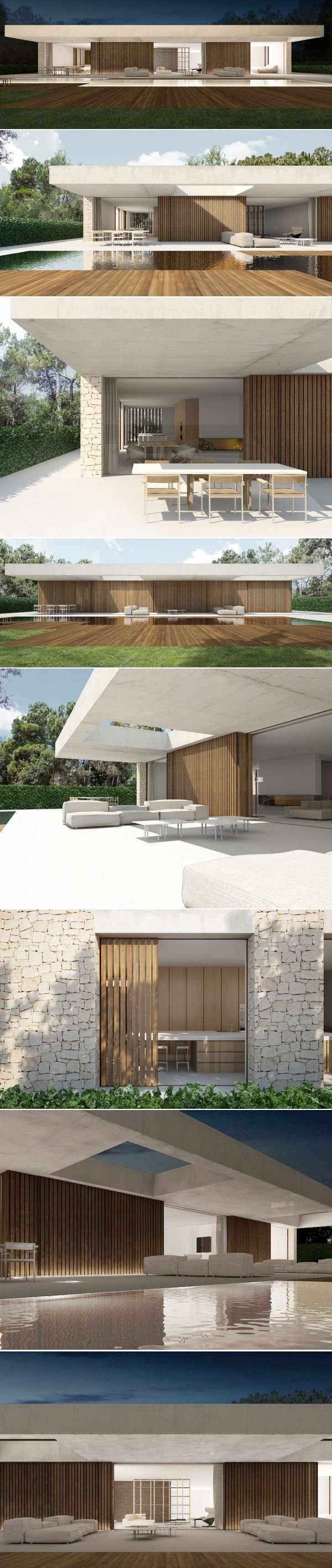 Single storey home flat roof future vertical expansion 6 social side - House In La Ca Ada Spain By Ramon Esteve
