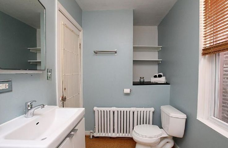 Dull robins egg blue paint for bath
