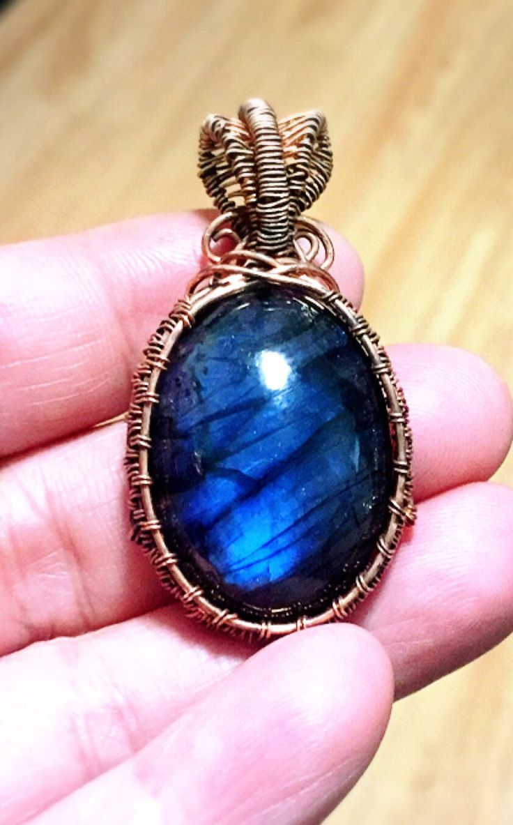 A personal favorite from my Etsy shop https://www.etsy.com/ca/listing/550393742/bluevlabradorite-pendant-copper-wire