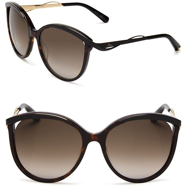 Dior Metaleyes Cat Eye Sunglasses (6.230.700 IDR) ❤ liked on Polyvore featuring accessories, eyewear, sunglasses, glasses, shades, sunnies, cateye glasses, christian dior glasses, christian dior eyewear and christian dior sunglasses