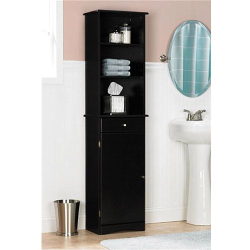Ameriwood industries linen cabinet espresso 5303045 89 for Espresso bathroom ideas