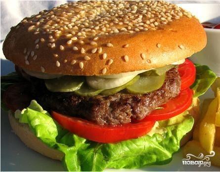 Котлета для гамбургера - пошаговый кулинарный рецепт с фото на Повар.ру
