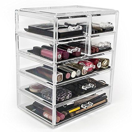 Photo Of Sorbus Acrylic Cosmetics Makeup and Jewelry Storage Case Display Large and Small Drawers Space Saving Stylish Acrylic Bathroom Case