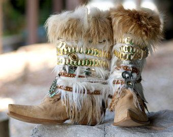 Nu klaar!!! TALL volledige hoogte Upcycled stijl REWORKED vintage COWBOY laarzen - boho boots - western boots - knie hoge leren laarzen