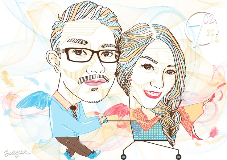 Thankyou Mr. Announcer, Ferry Sanjaya, for ordered our artwork as a gift to your dearest fiancee. Congratulations for your engagement!   #art #illustration #drawing #draw #jellychic #arts #artwork #digitalart #engagement #instalove #colorful #picture #artist #sketch #sketchbook #paper #pen #pencil #artsy #instaart #beautiful #instagood #gallery #masterpiece #creative #photooftheday #instaartist #graphic #graphics #artoftheday