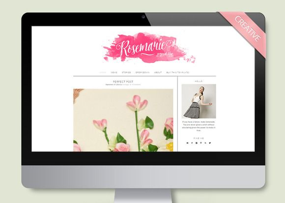 Rosemarie - Wordpress Theme Blog by LucaLogos on Creative Market